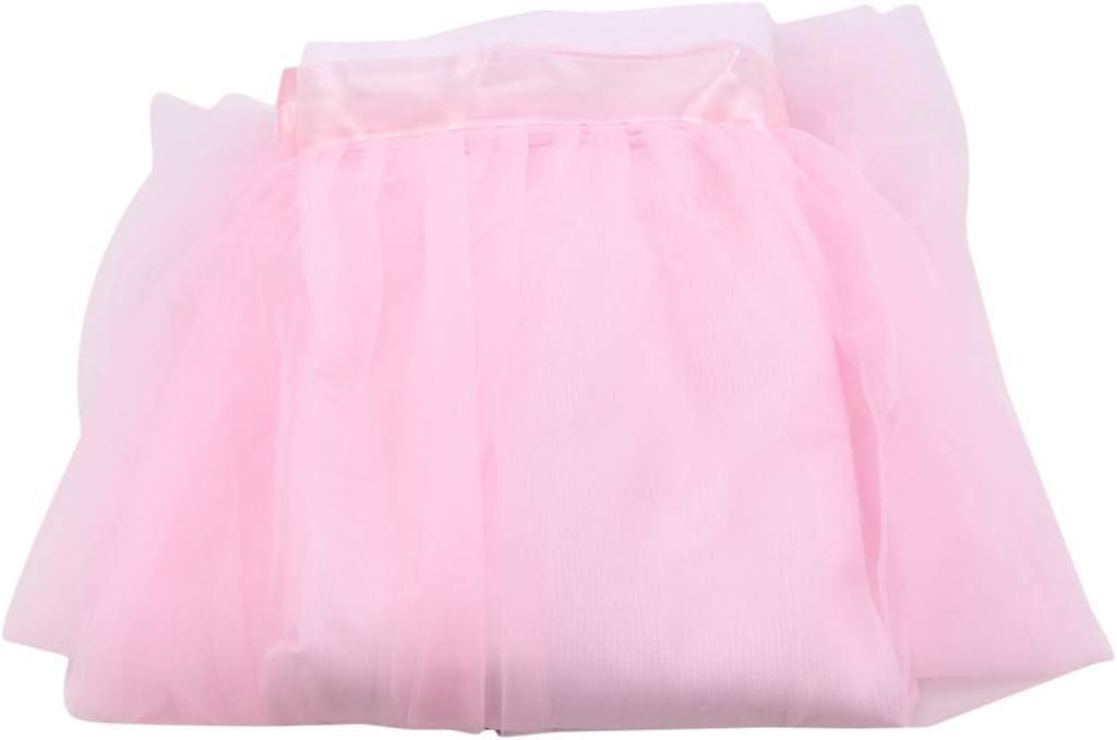 Gljyg - Falda de tul para mesa de bebé, diseño rectangular, color negro, Gasa, Rosa., Wie die Details
