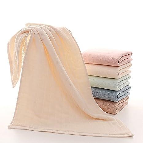 mmynl hilo algodón puro Toalla toallas de mano de lino y algodón adulto parejas Beige 60 x 40 cm: Amazon.es: Hogar