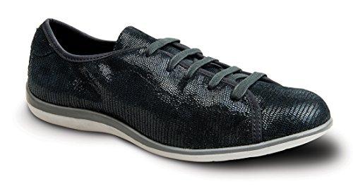 Revere Lyon Women's Comfort Shoe With Removable Foot Bed: Black/Lizard 9 Medium (B) (Lyon Bed)