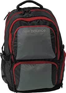New Balance Performance Backpack, Grey/Red, One Size