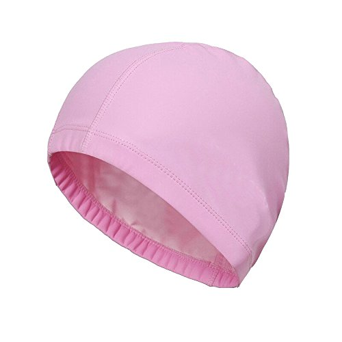 SUPOW 9.6-12.6 inches (Length) Waterproof Swimming Cap [PU Material] - Flexible & Durable - Keep Hair & Ears Dry + Breathable - Extra Large Long Hair Swim Cap for Men or Women