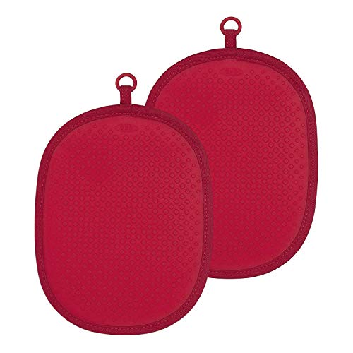(OXO Good Grips Silicone Pot Holder, Red (2 Pack))