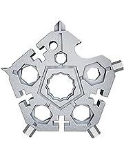 fdsfa Snöflinga ficka multiverktyg nyckelring 23 i 1, camping nyckelring multiverktyg kit, multifunktionell skiftnyckel bärbar skiftnyckel, rostfritt stål praktiska prylar multiskiftnyckel skruvmejsel
