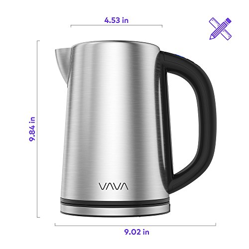 Electric Kettle, VAVA Real-Time LED Display Tea Kettle with Temperature Control, 1.7L Stainless Steel Fast Boiling Hot Water Kettle, 2H Keep Warm & Memory Function by VAVA (Image #8)