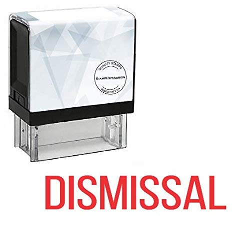DISMISSAL Office セルフインク式ゴムスタンプ - 赤インク (A-5699)   B07D2BZ5CT