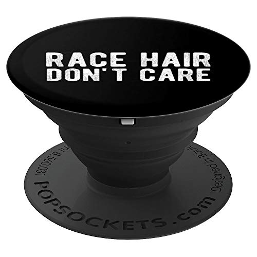 Race Hair Don't Care Drifter, Drag Racing PopSockets Grip and Stand for Phones and Tablets