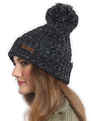 Brook + Bay Pom Pom Beanie - Stay Warm & Stylish - Thick, Soft & Chunky Cable Knit Beanie Hats for Women & Men - Serious Beanies for Serious Style]()