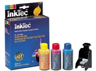InkTec Recambio Kits para HP 21/27/56& 22/28/57Cartuchos de tinta, Color