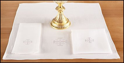 4 Pack of 100% Altar Linen Corporal for Churches