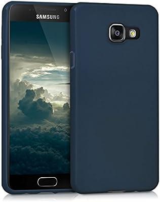 kwmobile Funda para Samsung Galaxy A3 (2016) - Carcasa para móvil en [TPU Silicona] - Protector [Trasero] en [Azul Oscuro]