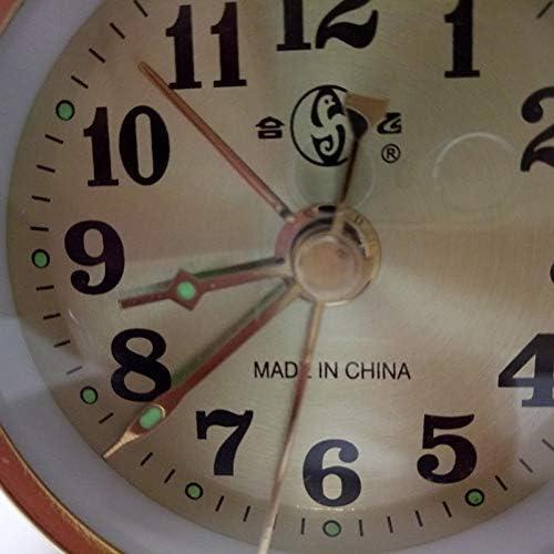 Alarm Clock Sveglia Meccanica in Oro Carica Manuale Espositore da Tavolo Vintage in Metallo Versione Sveglia Forniture per Decorazioni per La Casa