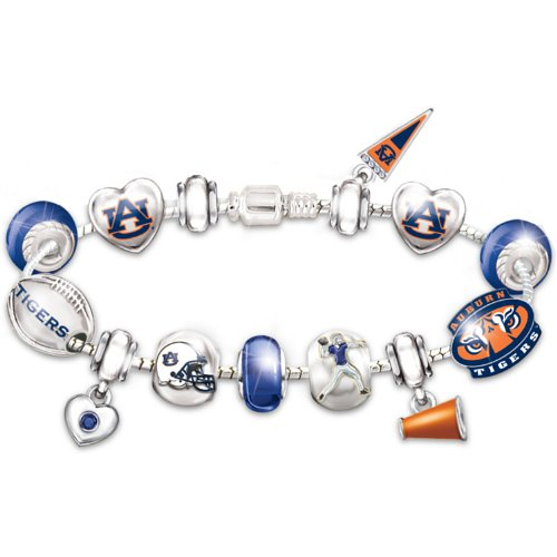 - Auburn Tigers Fan Charm Bracelet: Go Tigers! #1 Fan by The Bradford Exchange
