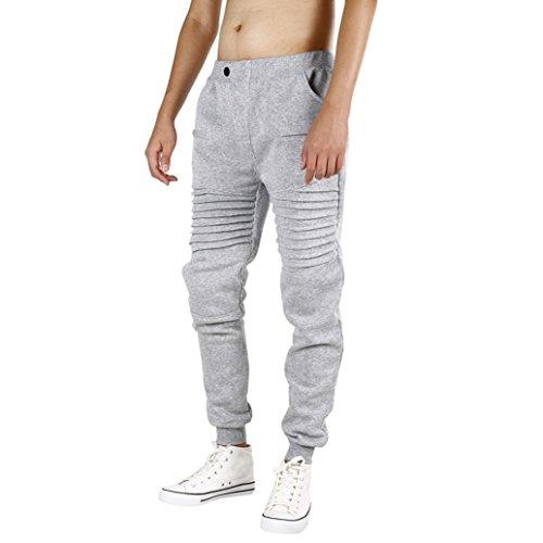Men Sweatpants,Caopixx Men's Athletic Running Sport Jogger Pants Casual Sportwear Trousers (Asia Size L2=US Size XL, Gray) from Caopixx Trousers