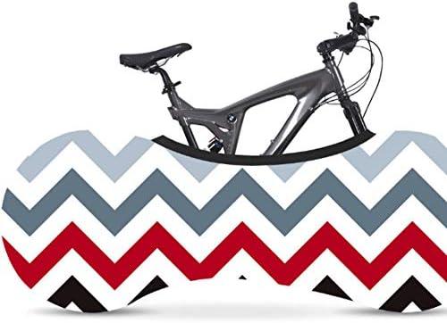 Fundas para Bicicletas,Rayas Rojas nórdicas Bicicleta Cubierta de ...
