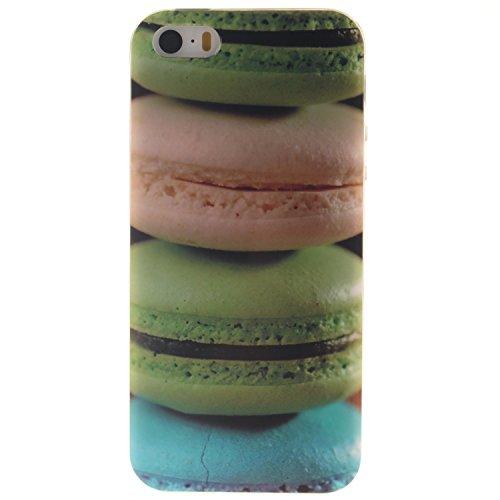 Custodia iPhone 5 5S SE , LH Hamburger TPU Silicone Cristallo Morbido Case Cover Custodie per Apple iPhone 5 5S SE