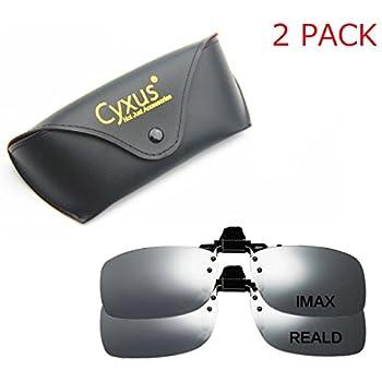 99322ae107 Cyxus 3D Clip-on Glasses For TV Cinema Movie Eyewear (RealD   IMAX 2 Pack)