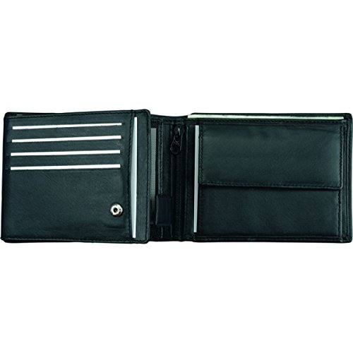 Leather nbsp;x 9 Purse in Wallet Made 2 12 Landscape Alassio nbsp;cm nbsp;cm Black 12 Nappa nbsp;x from FxpgYqPw