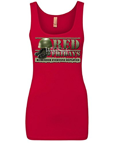 Red Fridays Remember Everyone Deployed Women's Tank Top Support US Troops Top Red XL