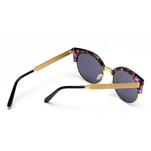 sin Estilo para Plata Mujeres Semi viaja la UV Conducción Montura Libre Peggy Sol de Gafas Que de Color Aire de Color Gafas Señora al Ojos Protección Gu Gris Gato Wqx0IwpU0