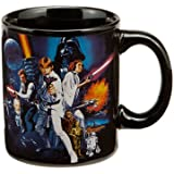 Vandor 99361 Star Wars A New Hope 12 oz Ceramic Mug, Black