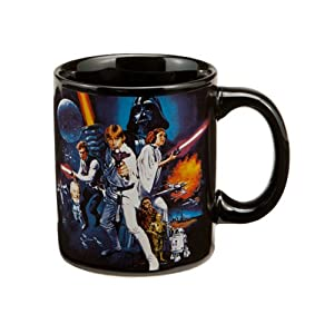 Star Wars A New Hope 12 oz Black Ceramic Mug