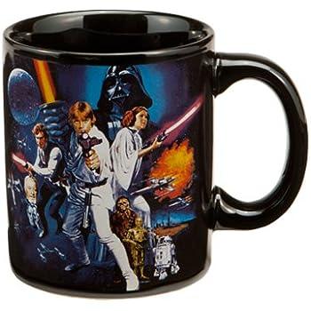 Vandor 99361 Star Wars A New Hope 12 oz Ceramic Mug, Black