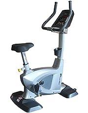 PowerMax Fitness BU-3000C Commercial Upright Bike, grey