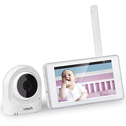 VTech VM981 Wireless WiFi Video Baby Monitor with Remote Access App, 5-inch Touch Screen, Remote Access 10x Digital Zoom, Motion Alerts & Support for up to 10 Cameras (Renewed)