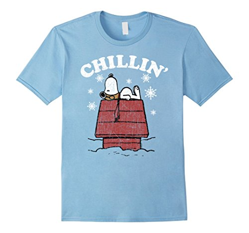 Adults or Kids Snoopy Winter Christmas Holiday Chillin' T Shirt