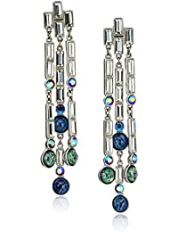 Eclipse Shooting Star Swarovski Crystal Drop Earrings