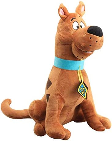 zcm Plush Toys 35cm Soft Cute Great Dane Scooby Doo Dog Cute Dolls Stuffed Animal Plush Toy For Children