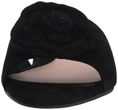 Taryn Rose Womens Violet Silky Suede Slide Sandal Black xwdnahio