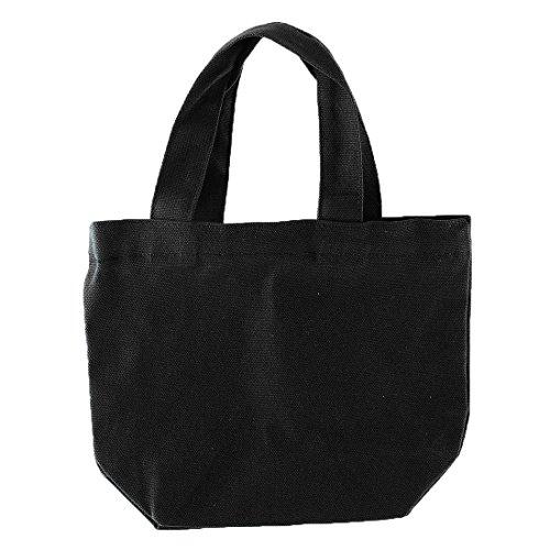 Black Holder Travel Cosmetic Tote Lunch Sourcingmap Sundries Box Bag Handbag Storage Office Canvas School YwZnOg