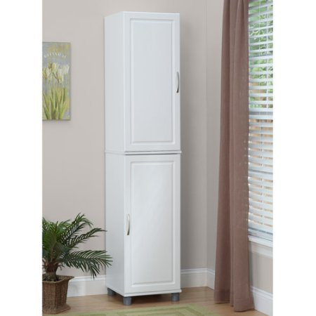 16'' Stackable Storage Cabinet, White, Raised Panel Door Front adds Style to This Functional Item, Concealed 6-way Euro Hinges on the Door Create a Finished Look by GAShop (Image #1)