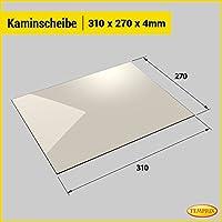 Kaminglas und Ofenglas 310 x 270 x 4 mm   Temperaturbeständig bis 800° C   » Wunschmaße auf Anfrage «   Markenqualität in Erstausrüsterqualität