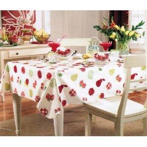 High Quality Paula Deen Fruit Vinyl Tablecloth 60 X 84 Oblong