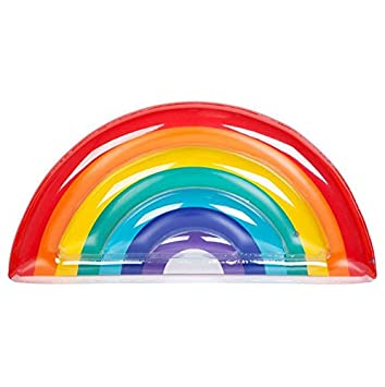 Amazon.com: Nuevo Rainbow Raft piscina flotador piña Balsa ...