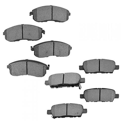 (Premium Posi Semi Metallic Brake Pad Front & Rear Kit for Sentra)