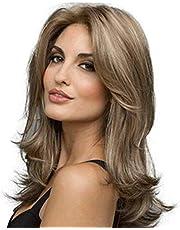 شعر مستعار من اكسبلوجن شعر طبيعي في اوروبا وامريكا تموجات طبيعية ولون بني طبيعي للنساء شعر طويل مموج وغطاء من الفيبر الكيميائي