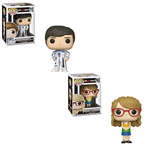 Funko POP! Television The Big Bang Theory: Howard Wolowitz in Space Suit and Bernadette Rostenkowski Toy Action Figure - 2 POP Bundle