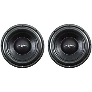 Sale (2) Skar Audio VD-10 D4 10' 500W RMS Dual 4 Shallow Mount Subwoofer