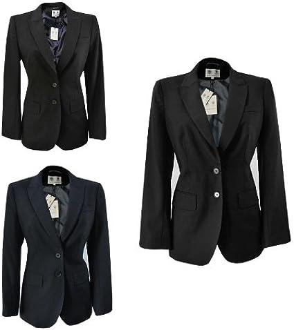 Austin Reed New Ex Ladies Womens Formal Suit Tailored Wool Jacket Uk 12 Dark Grey Amazon Co Uk Clothing