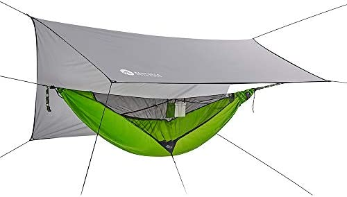 2 Person Camping Hammock With Integral Mosquito Net Plus Rigging Straps And Bag