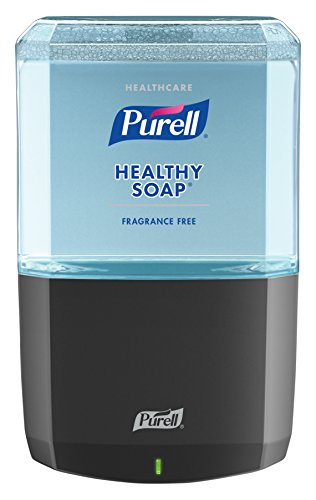 (PURELL Healthcare HEALTHY SOAP Gentle and Free Foam ES6 Starter Kit, 1 – 1200 mL Soap Refill + 1 - ES6 Graphite Touch-Free Dispenser - 6472-1G)