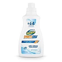 OdoBan Sports Edge Odor Release Laundry Detergent, 46-Ounce