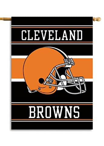 NFL Cleveland Browns 2-Sided 28-by-40-Inch House Banner - Cleveland Browns Bedding