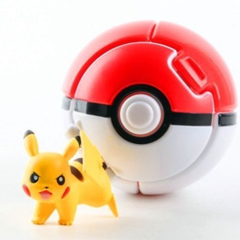 4PCS Bounce Pokemon Pokeball Cosplay Pop-up Elf Go Fighting Poke Ball Toy