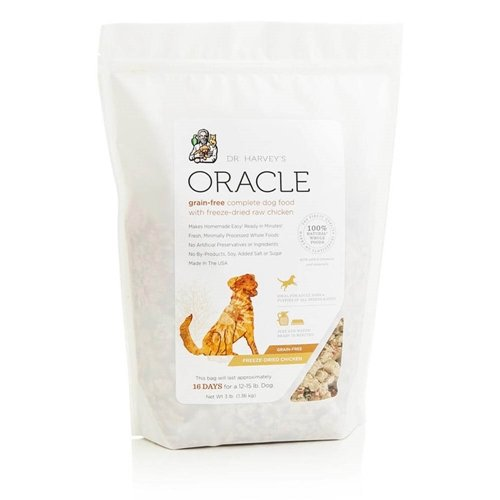 Dr. Harvey's Oracle Freeze-Dried Raw Complete Diet for Dogs, Grain-Free Chicken, 3-Pound Bag