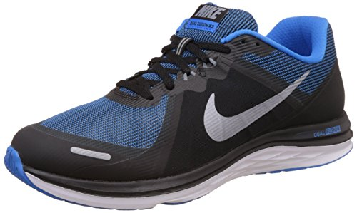 Nike Dual Fusion X 2, Zapatillas de Running para Hombre Negro (Black / Mtlc Cl Gry-Pht Bl-White)