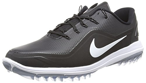 Nike Men's Lunar Control Vapor 2 Golf Shoes, Black/White/Cool Gray, 9.5 M US (Nike Shoes Lunar Men)